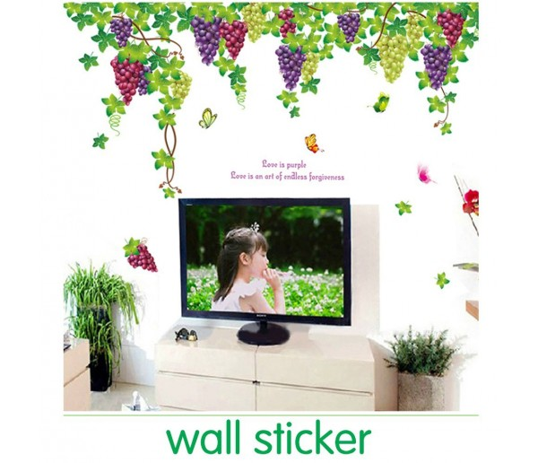 Wall Decals: Grape Fruit Wall Decals HM1219