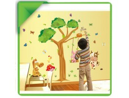 Tree and Animals Wall Decals HM1236