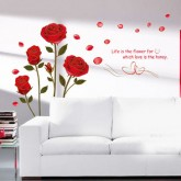 Wall Decals: Red Rose Wall Decals HM16005