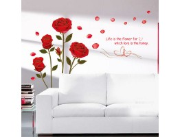 Red Rose Wall Decals HM16005