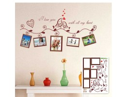Love Birds with Photo Frame Wall Decals HM1640