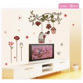 Wall Decals Birds Cage Wall Decals HM17102