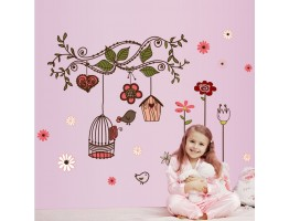 Birds Cage Wall Decals HM17102