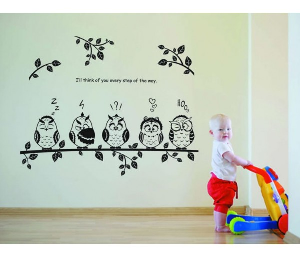 Wall Decals: Owl Bird Wall Decals HM18353