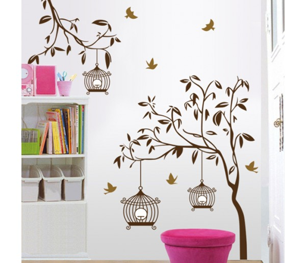 Wall Decals: Birds Cage Wall Decals HM19039