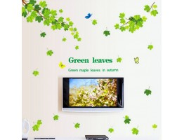 Green Leaves Wall Decals HM19145