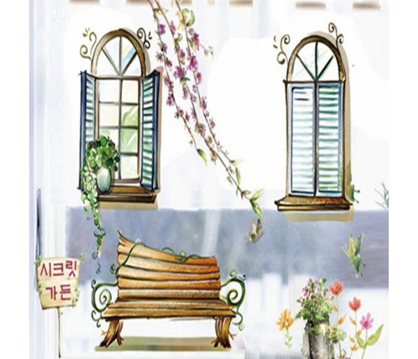 Wall Decals: Garden Wall Decals HM1939