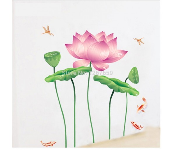 Wall Decals Lotus Flower Wall Decals HM1997