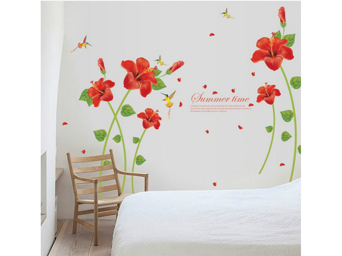 Hibiscus Flower Wall Decals Hm1sk9069