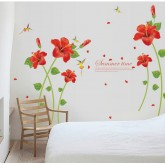 Wall Decals: Hibiscus Flower Wall Decals HM1SK9069