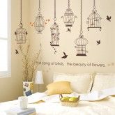 Wall Decals Birds Cage Wall Decals HM1SK9088