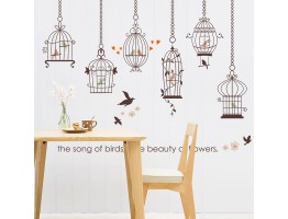 Birds Cage Wall Decals HM1SK9088