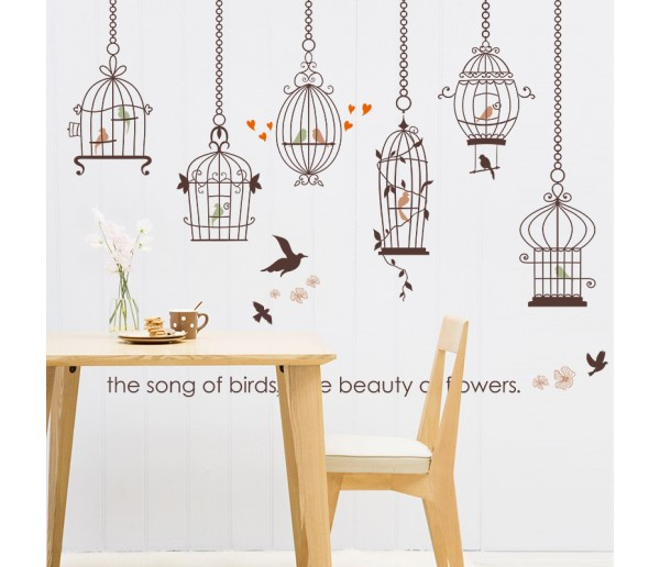 Wall Decals: Birds Cage Wall Decals HM1SK9088