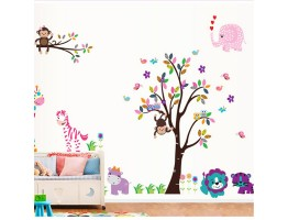 Tree and Animals Wall Decals HM25099