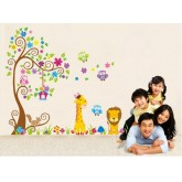 Wall Decals: Tree and Animals Wall Decals HM25210AB