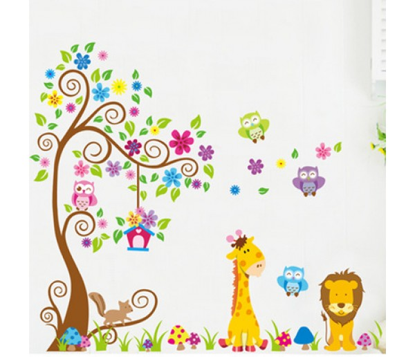 Tree and Animals Wall Decals HM25210AB