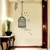 Wall Decals: Birds Cage Wall Decals HM58218