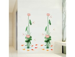Lotus Flower Wall Decals HM8910