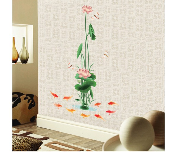 Wall Decals Lotus Flower Wall Decals HM8910