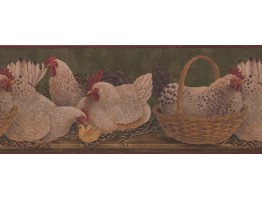Prepasted Wallpaper Borders - Roosters Wall Paper Border 3083 HS