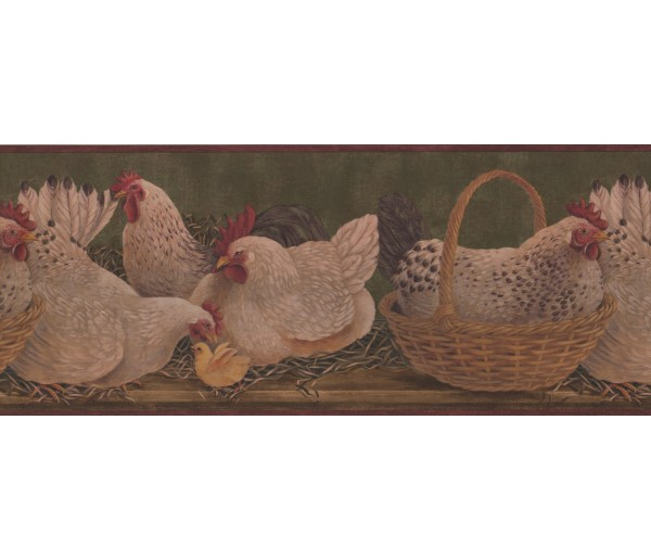 Roosters Roosters Wallpaper Border 3083 HS York Wallcoverings