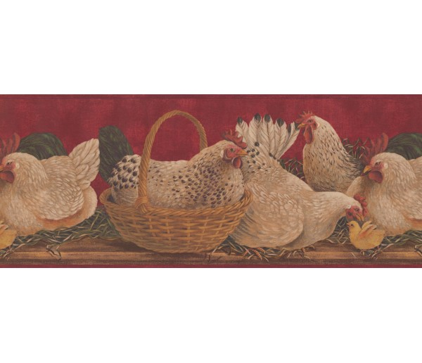 Roosters Roosters Wallpaper Border 3084 HS York Wallcoverings