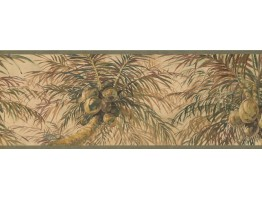Prepasted Wallpaper Borders - Tree Wall Paper Border 6011 HV