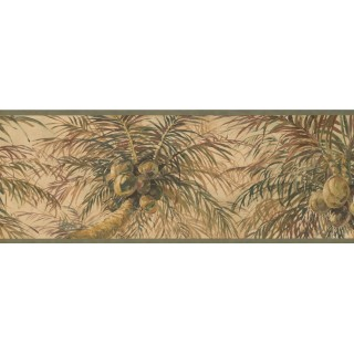 9 in x 15 ft Prepasted Wallpaper Borders - Tree Wall Paper Border 6011 HV