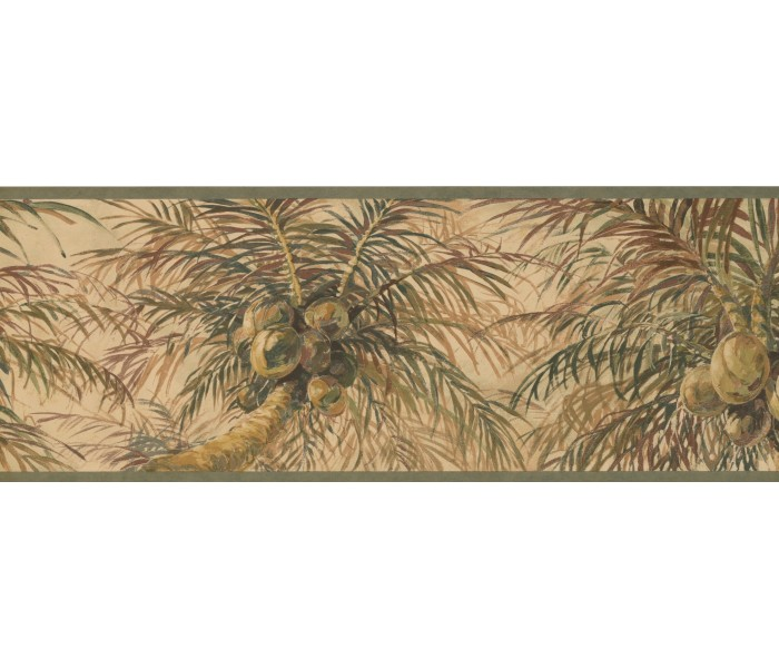 Garden Wallpaper Borders: Tree Wallpaper Border 6011 HV