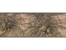 Prepasted Wallpaper Borders - Tree Wall Paper Border 6012 HV