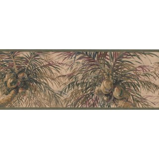 9 in x 15 ft Prepasted Wallpaper Borders - Tree Wall Paper Border 6012 HV