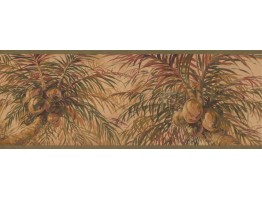 9 in x 15 ft Prepasted Wallpaper Borders - Tree Wall Paper Border 6013 HV