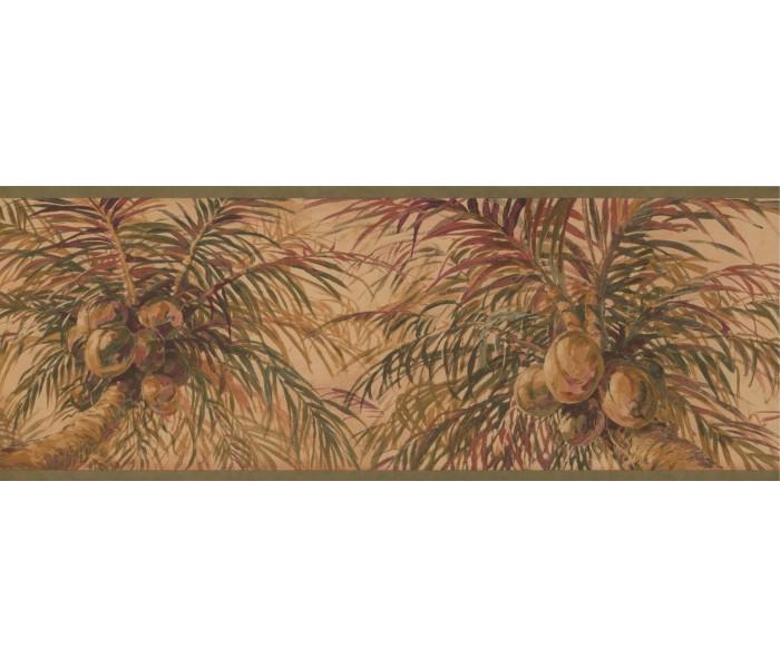 Garden Wallpaper Borders: Tree Wallpaper Border 6013 HV