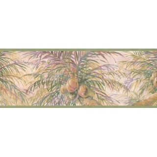 9 in x 15 ft Prepasted Wallpaper Borders - Tree Wall Paper Border 6014 HV