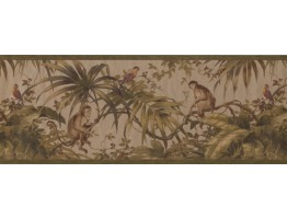 Prepasted Wallpaper Borders - Garden Wall Paper Border 6153 HV