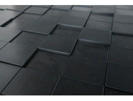 Wall Panel Harmony Cubes - Decorative Thermoplastic Tile 24x24 - Dark Okasha