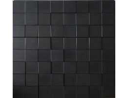 Wall Panel Harmony Cubes - Decorative Thermoplastic Tile 24x24 - Dark Okasha