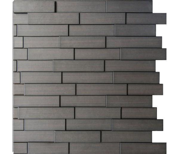 Wall Panels: Wall Panel Piano - Decorative Thermoplastic Tile 24x24 - Dark Okasha