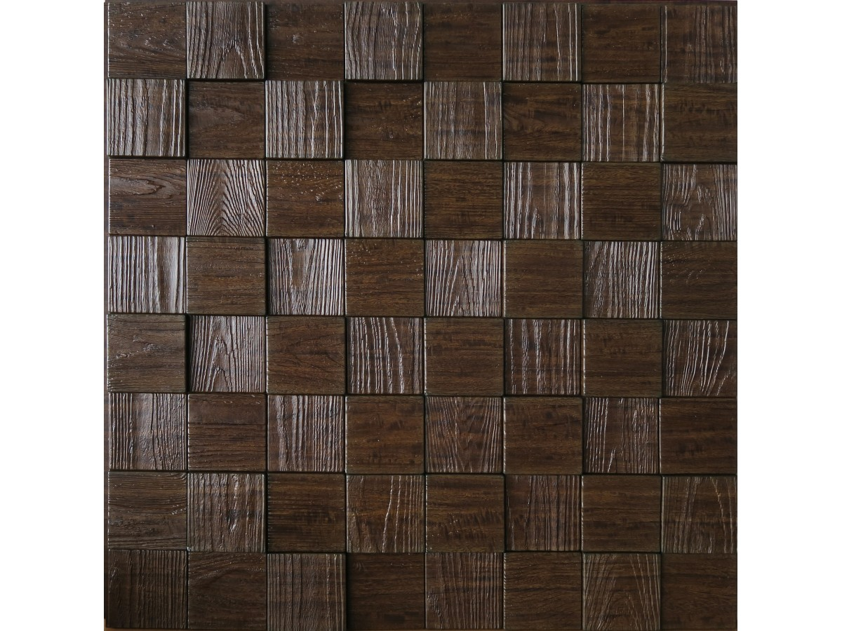 Wall Panels: Wall Panel Harmony Cubes   Decorative Thermoplastic Tile 24x24    Wood Grain