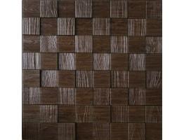 Wall Panel Harmony Cubes - Decorative Thermoplastic Tile 24x24 - Wood Grain