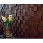 Wall Panels Wall Panel Harmony Cubes - Decorative Thermoplastic Tile 24x24 - Gold Thread
