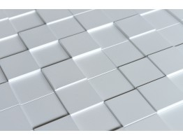 Wall Panel Harmony Cubes - Decorative Thermoplastic Tile 24x24 - Snow White