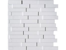 Wall Panel Piano - Decorative Thermoplastic Tile 24x24 - Snow White