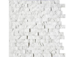 Wall Panel Ledge Stone - Decorative Thermoplastic Tile 24x24 - Crystal White