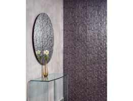 Wall Panel Ledge Stone - Decorative Thermoplastic Tile 24x24 - Sparkled Grey