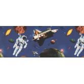 Sun Moon Stars Wall Borders: Space Wallpaper Border 1001 ISB