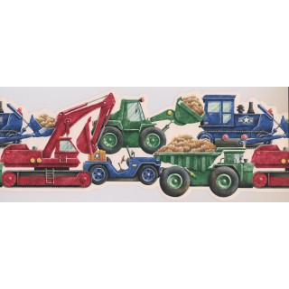 9 in x 15 ft Prepasted Wallpaper Borders - Vehicles Wall Paper Border 1241 ISB