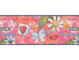 9 in x 15 ft Prepasted Wallpaper Borders - Kids Wall Paper Border 4002 ISB