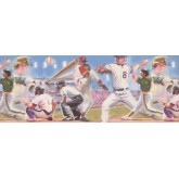 Baseball Wallpaper Borders: Baseball Wallpaper Border 4052 ISB