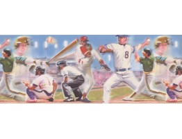 Prepasted Wallpaper Borders - Baseball Wall Paper Border 4052 ISB